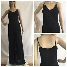 ZARA BLACK GOLD PREMIUM KNIT COLLECTION GLITTER SPARKLY STRAPPY DRESS RRP £59.99