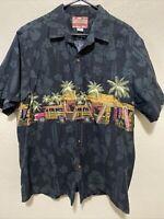 Men's RJC Hawaiian Islands Car Floral Shirt Size XL Made In Hawaii USA
