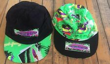 1990s 80s Trucker Hat Vintage 90s SURF CLUB neon Reversible One Size