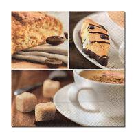 4 Servietten Motivservietten Napkins Tovaglioli Decoupage Coffee Kaffee(610)
