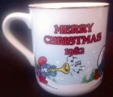 Smurfs Mug Carolers 1982 Christmas Collectibles Limited Edition 1st Annual