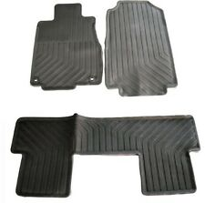 For 12-14 Honda CRV OE Factory Style Foot Floor RUBBER Mats  All Season Weather