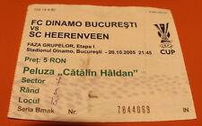 OLD TICKET UEFA Dinamo Bucarest Romania - SC Heerenveen Holland Netherlands