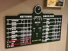 Wrigley Field Scoreboard Chicago Cubs Collectible Sign Memorabilia MLB 4' Wide