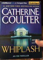 Whiplash Catherine Coulter Unabridged 10 CDs FBI Thriller Audiobook, FREE ship