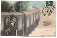 CPA 95 - ENGHIEN LES BAINS (Val d'Oise) - J'arrive à Enghien et vous envoie le B