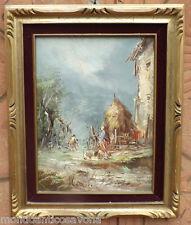 Dipinto quadro olio su tela con cornice Athos Brioschi (1922- 2000)