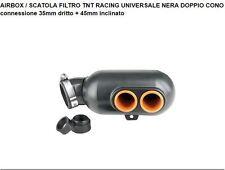 SCATOLA FILTRO TNT RACING UNIVERSALE NERA DOPPIO CONO  115041