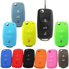 Key Bag Cover Silicone Key Portect Case Cars Accessories For Volkswagen Skoda