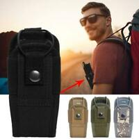 Outdoor Tactical Radio Pouch Adjustable Walkie Talkie Bag Belt Holder Holster Ba