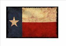 Texas INVECCHIATO FLAG segno METALLO STILE VINTAGE BANDIERA segno GUAM Stile Bandiera