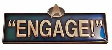"Star Trek The Next Generation Picard Quote ""ENGAGE"" 2"" Wide Pin"