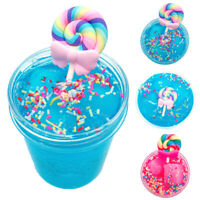 FP- 60/120ml Crystal Lollipop Slime Clay Mud Kids' Stress Relief Sludge Toy Heal