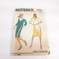 Butterick 3054 Size 10 Misses Dress Top & Skirt Sewing Pattern