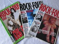 LOT DE 3 : ROCK & FOLK Numéros 328, 334 et 336