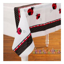 LADYBUG PLASTIC TABLE COVER ~ Birthday Party Supplies Lady Bug Cloth Decorations