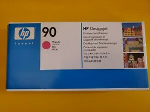 HP 90 Designjet Magenta Printhead and Cleaner C5056A NEW SEALED Exp. 2015