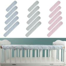 2Pcs Cotton Crib Protection Wrap Edge Baby Anti-bite Solid Color Bed Fence Guard