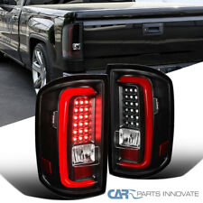 For GMC 14-18 Sierra 1500 2500HD 3500HD Red LED Tube Tail Brake Rear Lights Pair