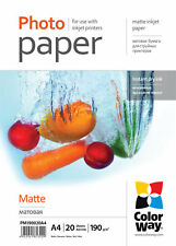ColorWay Matte A4 8.5x11 Photo Paper 20 sheets