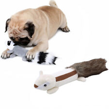 Funny Pet Cat Dog Puppy Chew Squeaker Squeaky Plush Sound Training Toy JD
