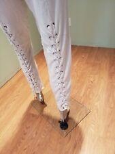 Philanthropy Cream Legging or Sweatpant with lacing up the back legs Size L EUC