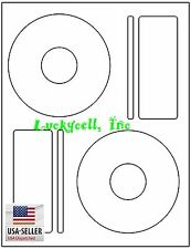 1000 CD DVD Laser and Ink Jet Labels Compatible to Memorex 500 Sheets Large Core