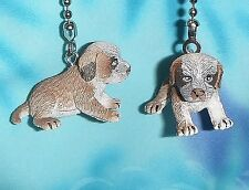 Set of Two ~ Baby Setter Puppy Dog Pet ~ Ceiling Fan Pull Chains