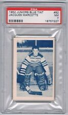 1952 Junior Blue Tint  Hockey Card Quebec Citadels Jacques Marcotte Graded PSA 7