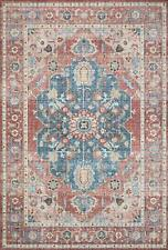 "Loloi Ii Skye Collection Printed Distressed Vintage Area Rug 7'-6"" x 9'-6"" Br."