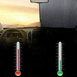 Frontscheibe Sonnenschutz Einziehbare Rollo SaugnapfUVSchutz Sonnenblende Auto C