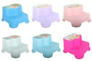 Kids Children Toddler Plastic Step Stool, Anti-Slip Toilet Potty Training.