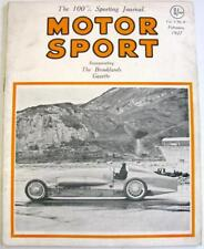 MOTOR SPORT Brooklands Gazette Feb 1927 Vol 3 No.8 Original Motoring Magazine