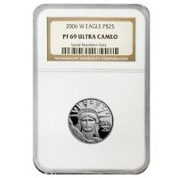 2006 W 1/4 oz $25 Platinum American Eagle Proof Coin NGC PF 69 UCAM