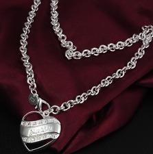 Silberkette Kette Halskette Herz Silberschmuck guess S925 Geburtstagsgeschenk 1A