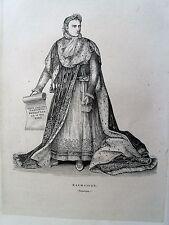 Bi1-11 Gravure 1845 chateaux historiques par Théodore Frère - Malmaison