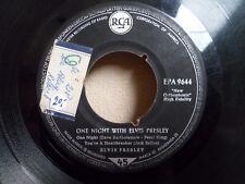 """7"""" ELVIS PRESLEY - One night with Elvis Presley - VG - RCA - EPA 9644 - GERMANY"""