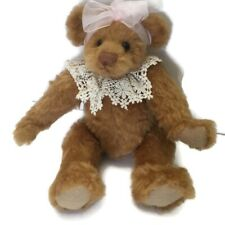 Ganz Cottage Collectibles Shannon Bear Jointed Artist Sue Coe 1997 Retired Bow