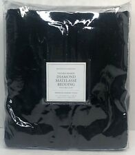Restoration Hardware Vintage-Washed Diamond Matelasse Bed Skirt Twin Black $99