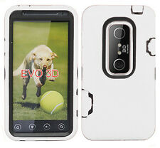 For HTC EVO 3D IMPACT RESISTANT Hard Rubberized Phone Case Cover Accessory