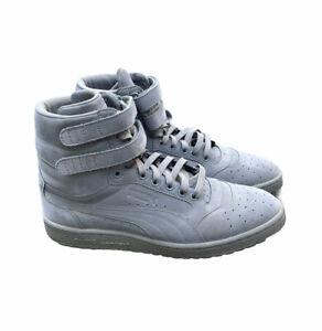 PUMA Sky II HI Mono RARE High Top Lace Sneakers Shoe SIZE 10 Men's All Grey New