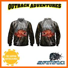 Samaki Long Sleeve Fishing Shirt Mangrove Jack Adult 5XL Brand UPF 50+