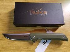 Ruike P121-G Hussar Liner Lock Folder Knife Green G-10 14C28N Stainless