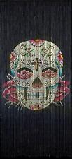 Beaded Bamboo Curtain , Skull
