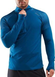 2XU GHST Half Zip Long Sleeve Mens Running Top - Blue