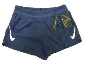 "$80 NEW Mens Nike Aeroswift Running Racing Shorts Navy 2""  AQ5257 410 LARGE"