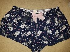 NWT Hollister Bow Pajama Shorts Navy Multi Large