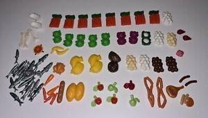 Playmobil Lebensmittel , Obst , Gemüse , Brot , Wurst , Eis, Fisch