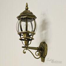 Wand Laterne schwarz gold Außenwandleuchte rustikal Außenwandlampe Wandlampe Hof