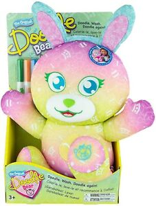 The Original Doodle Bear 14ʺ Plush Toy with 3 Washable Markers – Easter Edition